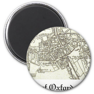 map of Oxford 1605.png 2 Inch Round Magnet