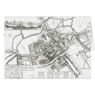 Map of Oxford, 1643 Card