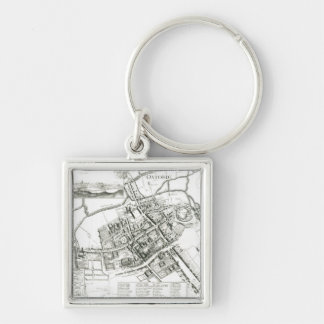 Map of Oxford, 1643 Keychain