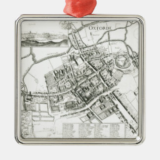 Map of Oxford, 1643 Christmas Ornaments