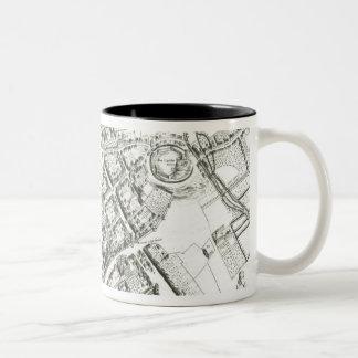Map of Oxford, 1643 Two-Tone Coffee Mug