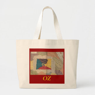 Map of Oz and surrounding countries and deserts. Large Tote Bag
