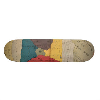 Map of Oz and surrounding countries and deserts Custom Skateboard