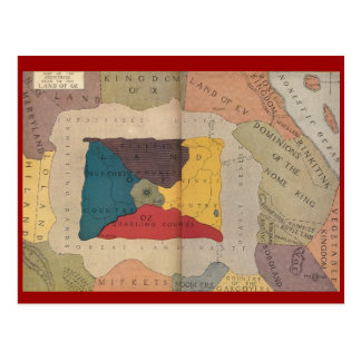 Map of Oz and Surrounding Countries Postcard