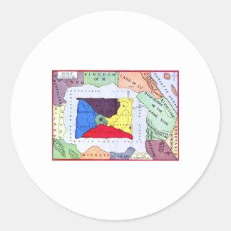 Map Of Oz Classic Round Sticker