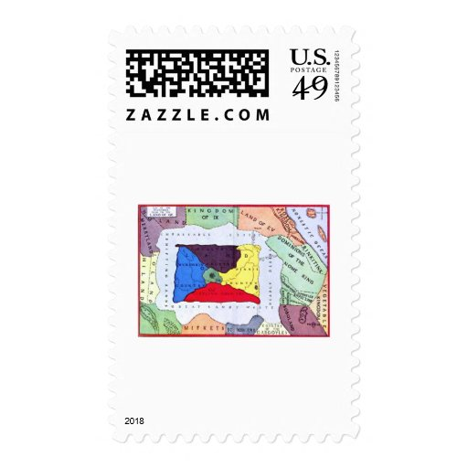 Map Of Oz Postage