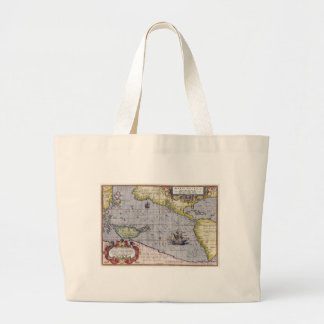 Map of Pacific Canvas Bags