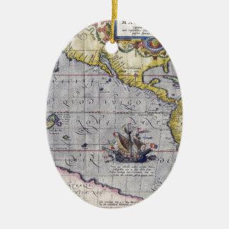 Map of Pacific Ceramic Ornament
