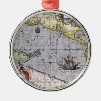 Map of Pacific Metal Ornament