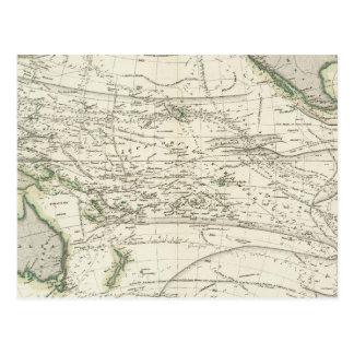 Map of Pacific Ocean Postcard