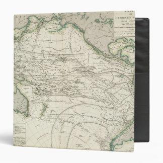 Map of Pacific Ocean Vinyl Binder