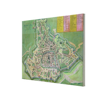 Map of Padua, from 'Civitates Orbis Terrarum' by G Canvas Print