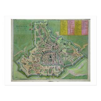 Map of Padua, from 'Civitates Orbis Terrarum' by G Postcard