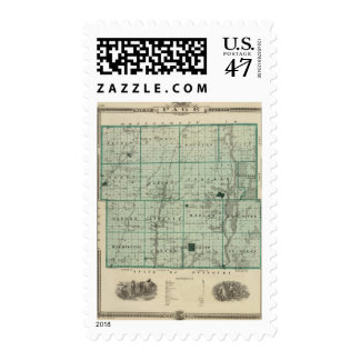 Map of Page County, State of Iowa Postage