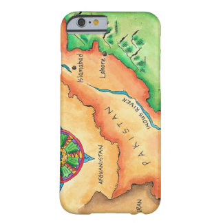 Map of Pakistan Barely There iPhone 6 Case