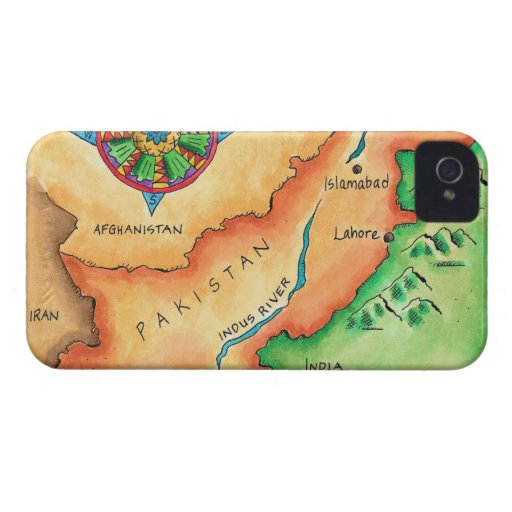 Map of Pakistan iPhone 4 Cases