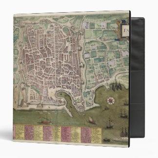 Map of Palermo, from 'Civitates Orbis Terrarum' by 3 Ring Binder
