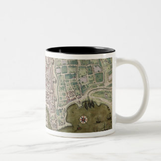 Map of Palermo, from 'Civitates Orbis Terrarum' by Two-Tone Coffee Mug