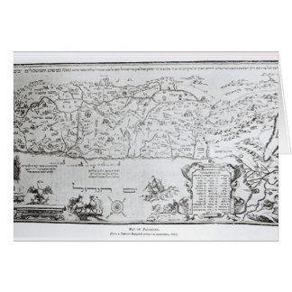 Map of Palestine, from a Passover Haggadah Greeting Card