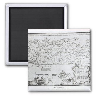 Map of Palestine, from a Passover Haggadah Magnet