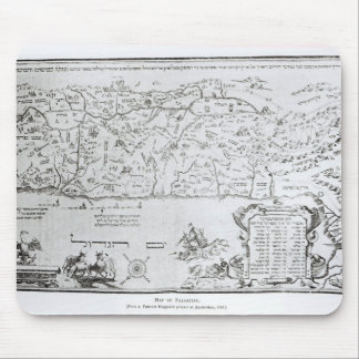 Map of Palestine, from a Passover Haggadah Mouse Pad