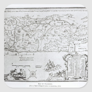Map of Palestine, from a Passover Haggadah Square Sticker