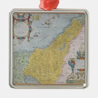 Map of Palestine Metal Ornament
