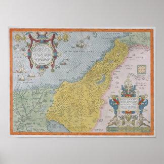 Map of Palestine Print