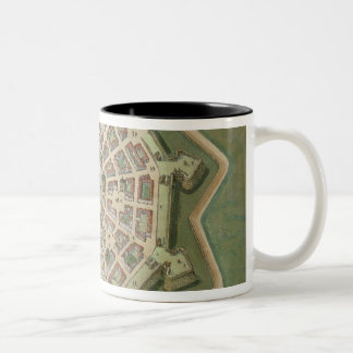 Map of Palma, from 'Civitates Orbis Terrarum' by G Two-Tone Coffee Mug