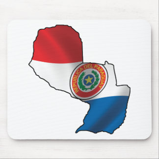 Map Of Paraguay Mouse Pad
