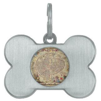 Map of Paris, 1576 Pet ID Tag