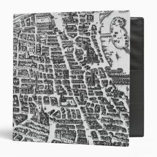 Map of Paris, 1620 Binder