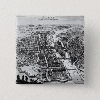 Map of Paris, 1620 Pinback Button