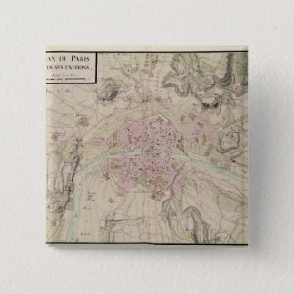 Map of Paris and its Surrounding Button