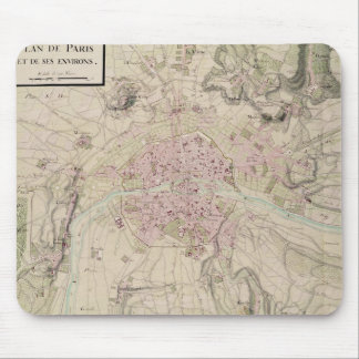 Map of Paris and its Surrounding Mouse Pad