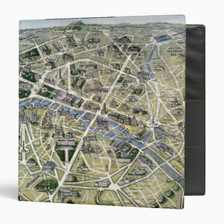 Map of Paris during the 'Grands Travaux' 3 Ring Binder