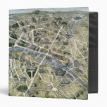 Map of Paris during the 'Grands Travaux' 3 Ring Binders