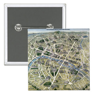 Map of Paris during the 'Grands Travaux' Button