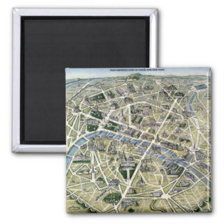 Map of Paris during the 'Grands Travaux' Magnets