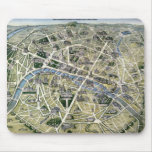 Map of Paris during the 'Grands Travaux' Mouse Pad