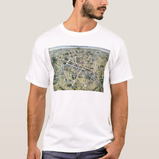 Map of Paris during the 'Grands Travaux' T-Shirt