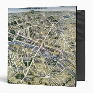 Map of Paris during the period of the Grands 3 Ring Binders