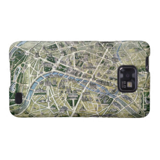 Map of Paris during the period of the Grands Galaxy S2 Cases