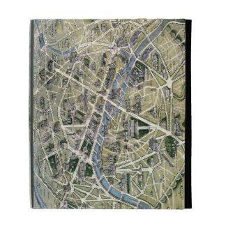 Map of Paris during the period of the Grands iPad Case