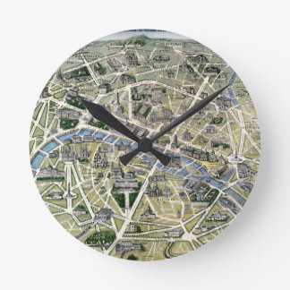 Map of Paris during the period of the Grands Round Clocks