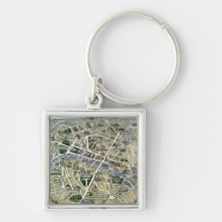 Map of Paris during the period of the Grands Keychains