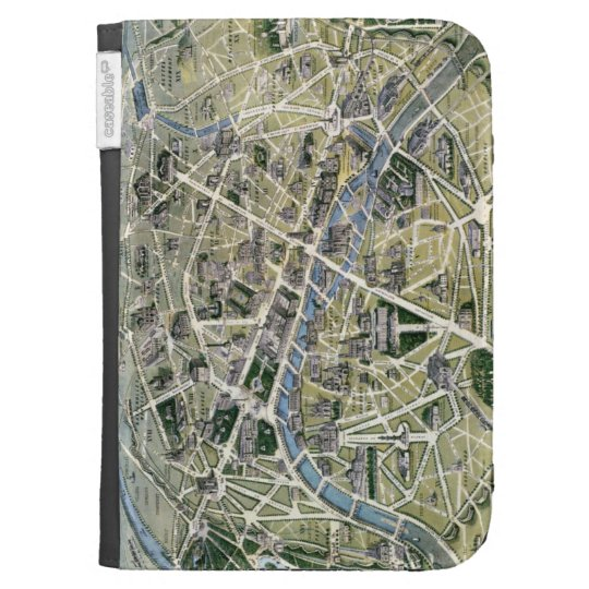 Map of Paris during the period of the Grands Kindle Keyboard Cases