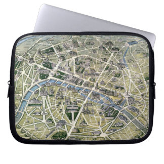 Map of Paris during the period of the Grands Laptop Sleeve