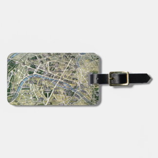 Map of Paris during the period of the Grands Tags For Bags