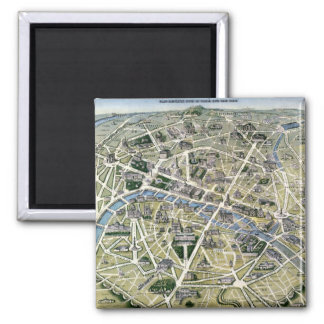 Map of Paris during the period of the Grands Fridge Magnet
